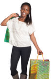Sexy woman with shoping bags Royalty Free Stock Image