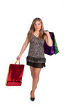 Sexy woman with shoping bags Stock Image