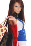 Sexy woman with shopping bag Stock Image
