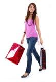 Sexy woman with shopping bag Stock Photos