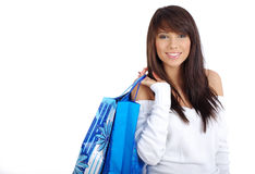woman with shopping bag Stock Images