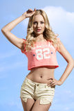 Sexy woman in shorts Royalty Free Stock Image