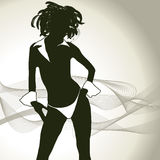 Sexy woman silhouette Royalty Free Stock Image