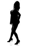 Sexy woman silhouette Stock Photography