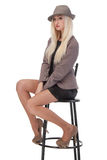 Sexy woman sitting on bar chair Stock Photography