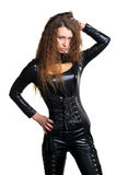 Sexy woman in skintight latex Royalty Free Stock Photography