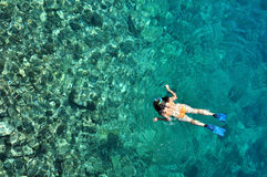 Sexy woman snorkeling Royalty Free Stock Images