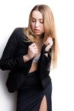 Sexy woman in suit Royalty Free Stock Images