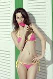 Sexy woman in summertime Stock Photos