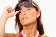 Sexy woman with sunglasses Royalty Free Stock Image