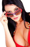 Sexy woman with sunglasses Royalty Free Stock Photo