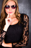 Sexy woman with sunglasses Stock Photography