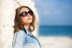 Sexy woman in sunglasses Royalty Free Stock Images