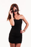 Sexy woman in sunglasses posing Royalty Free Stock Photography