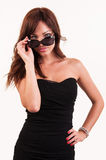 Sexy woman in sunglasses posing Stock Photography