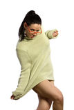 Sexy woman in sweater Royalty Free Stock Photography