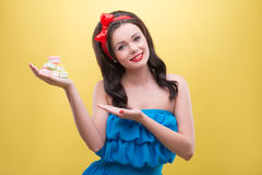 woman with sweets Stock Photos