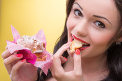 Sexy woman with sweets Stock Photography