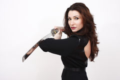 Sexy woman with sword Stock Photography
