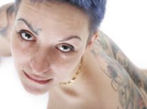 Sexy woman with tattoos Royalty Free Stock Images