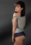 Sexy Woman in Top and Panties Stock Photography