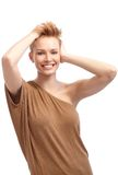 woman with trendy hair style Stock Photo