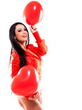 Sexy woman in Valentines Day Stock Images