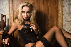 Sexy woman vamp Royalty Free Stock Photos