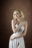 woman wear white fashion cloth Stock Photos