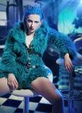 Sexy woman wearing fur Royalty Free Stock Image
