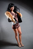 woman wearing jacket royalty free stock photography