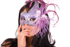 Sexy woman wearing mask. Stock Image