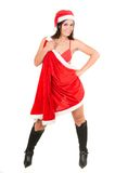 Sexy woman wearing santa claus clothes Royalty Free Stock Photography