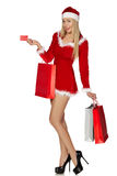 Sexy woman wearing santa clause costume Royalty Free Stock Photo