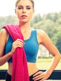 Sexy woman wearing sports clothing Stock Images