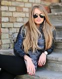 Sexy woman wearing sunglasses Royalty Free Stock Photography