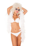 Sexy woman wearing white bikini Royalty Free Stock Photo