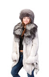 Sexy woman wearing winter fur Stock Photo
