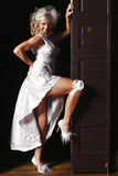 Sexy woman in white dress Royalty Free Stock Images