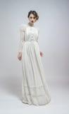 Sexy woman in white dress Stock Photos