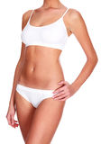 Sexy woman in white underwear Royalty Free Stock Image