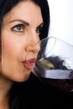 Sexy Woman with Wine Stock Photos