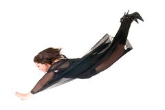 Sexy woman witch flying halloween Royalty Free Stock Images