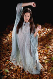 Sexy woman in witch halloween style Royalty Free Stock Images