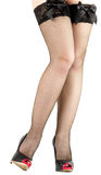 Sexy womanish leg in shoe Royalty Free Stock Photo
