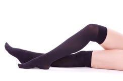 Sexy womanish legs isolated Stock Photo