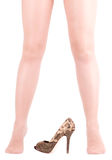 womanish legs in shoe Royalty Free Stock Photo