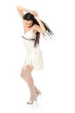Sexy women. In short dress over white Royalty Free Stock Photography