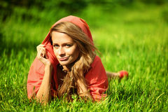 Sexy women. Sexy woman on green grass Stock Images