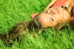 Sexy women. Sexy woman on green grass Royalty Free Stock Photos